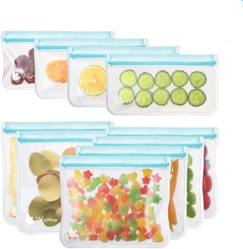 Wattne Store Reusable Sandwich and Snack Bags (Photo via Amazon)