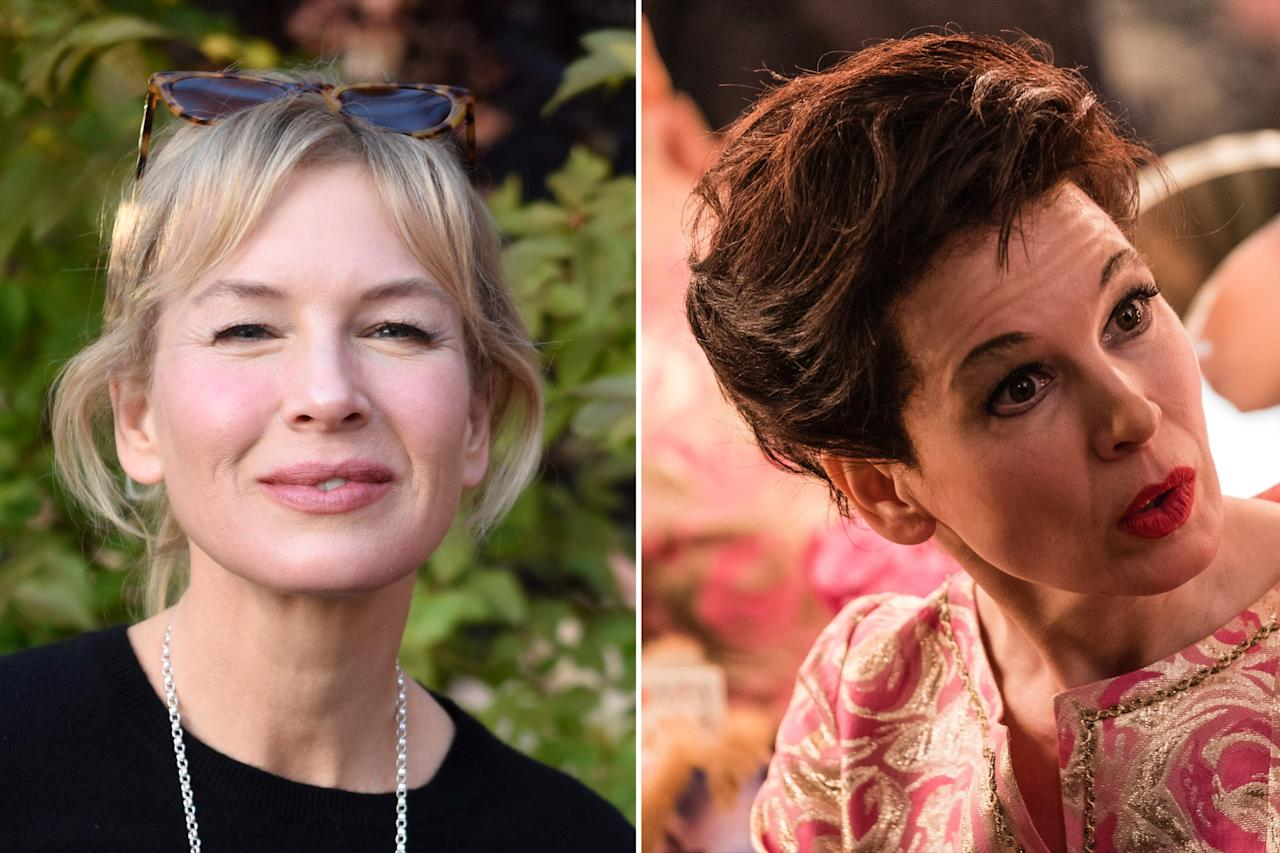 """The<em>Bridget Jones's Diary</em> actress <a href=""""https://people.com/movies/see-renee-zellweger-transform-judy-garland-judy-exclusive-scene/"""">completely transformed</a> for her role as the iconic Judy Garland in 2019's <em>Judy</em>.  The film follows Garland's final tour in the winter of 1968 — which she did despite her exhaustion and deteriorating health — up until her death in 1969 at just 47 years old.  <em>Judy</em>hits theaters Sept. 27."""