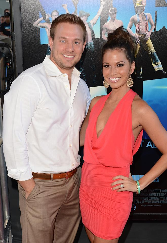 LOS ANGELES, CA - JUNE 24:  Actors Melissa Rycroft and Ty Strickland arrive at the closing night gala premiere of 'Magic Mike' at the 2012 Los Angeles Film Festiva held at Regal Cinemas L.A. Live on June 24, 2012 in Los Angeles, California.  (Photo by Jason Merritt/Getty Images)