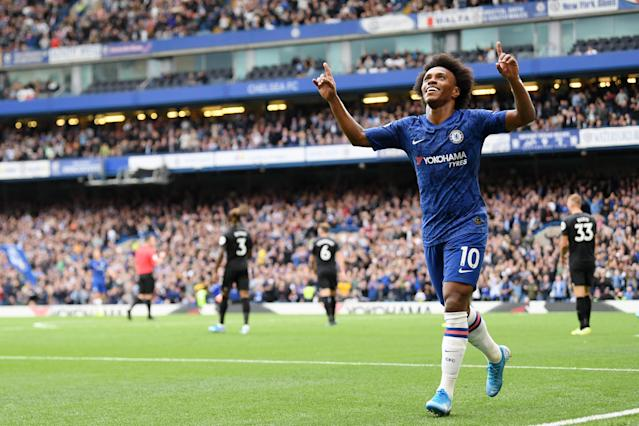 Willian scored his first goal in six months (Photo by Darren Walsh/Chelsea FC via Getty Images)