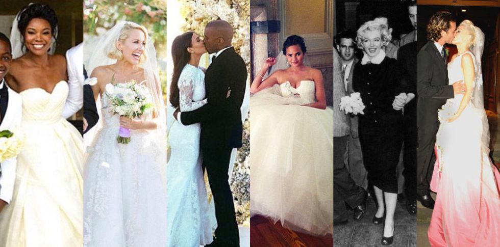 47 Incredible Celebrity Wedding Dresses