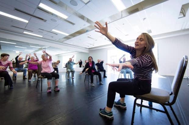 Exercise, like this jazz-dance class in Calgary, can help people with Parkinson's disease.