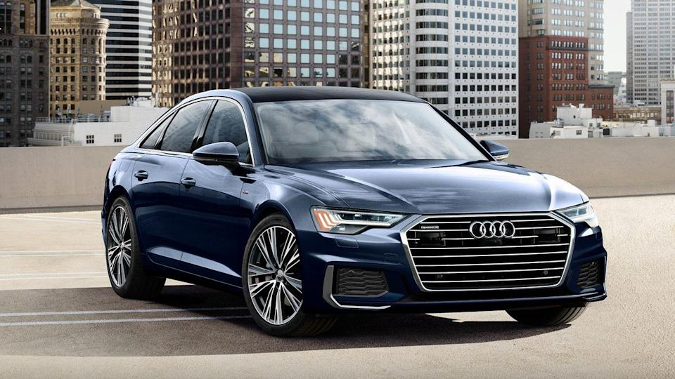 "<p>Comfortable, spacious, and well-equipped, the <a href=""https://www.caranddriver.com/audi/a6"" rel=""nofollow noopener"" target=""_blank"" data-ylk=""slk:2021 Audi A6"" class=""link rapid-noclick-resp"">2021 Audi A6</a> checks the critical boxes for a mid-size luxury car. Its cabin is lined with quality materials and fit and finish ranks among the best the <a href=""https://www.caranddriver.com/features/g22108206/big-full-size-luxury-sedan/"" rel=""nofollow noopener"" target=""_blank"" data-ylk=""slk:premium automobile marketplace"" class=""link rapid-noclick-resp"">premium automobile marketplace</a> has to offer. The A6 also woos tech-savvy buyers with a plethora of displays, cameras, driver-assistance features, and convenience items sprinkled throughout the interior. What's missing here is the crisp and tossable handling dynamics that shine so brightly in the smaller <a href=""https://www.caranddriver.com/audi/a4"" rel=""nofollow noopener"" target=""_blank"" data-ylk=""slk:A4 sedan"" class=""link rapid-noclick-resp"">A4 sedan</a> and its <a href=""https://www.caranddriver.com/audi/a5"" rel=""nofollow noopener"" target=""_blank"" data-ylk=""slk:two-door A5 siblings"" class=""link rapid-noclick-resp"">two-door A5 siblings</a>. Buyers will choose from either a turbocharged four-cylinder engine (those models are denoted with a ""45"" badge) and a turbocharged V-6 (called ""55""); both powertrains receive a boost from a hybrid system and come standard with all-wheel drive. The A6 is a handsomely styled—if somewhat bland—mid-size four-door that easily hangs with rivals such as the <a href=""https://www.caranddriver.com/bmw/5-series"" rel=""nofollow noopener"" target=""_blank"" data-ylk=""slk:BMW 5-series"" class=""link rapid-noclick-resp"">BMW 5-series</a> and the <a href=""https://www.caranddriver.com/mercedes-benz/e-class"" rel=""nofollow noopener"" target=""_blank"" data-ylk=""slk:Mercedes-Benz E-class"" class=""link rapid-noclick-resp"">Mercedes-Benz E-class</a>, but is better suited for commuting duty than tackling twisty back roads.</p><p><a class=""link rapid-noclick-resp"" href=""https://www.caranddriver.com/audi/a6"" rel=""nofollow noopener"" target=""_blank"" data-ylk=""slk:Review, Pricing, and Specs"">Review, Pricing, and Specs</a></p>"