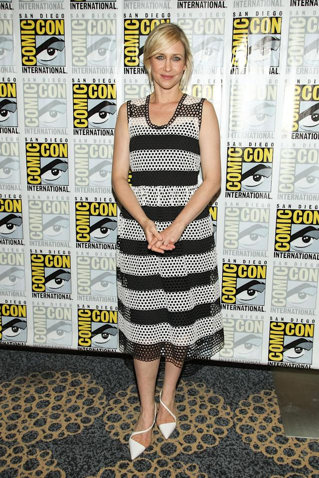 "Vera Farmiga attends the ""Bates Motel"" press line during Comic-Con International 2013 on July 20, 2013 in San Diego, California."