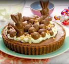"""<p>A chocolate lover's dream, this one is sure to impress!</p><p><strong>Recipe: <a href=""""https://www.goodhousekeeping.com/uk/food/recipes/chocolate-salted-caramel-tart"""" rel=""""nofollow noopener"""" target=""""_blank"""" data-ylk=""""slk:Chocolate salted caramel tart"""" class=""""link rapid-noclick-resp"""">Chocolate salted caramel tart</a> </strong></p>"""