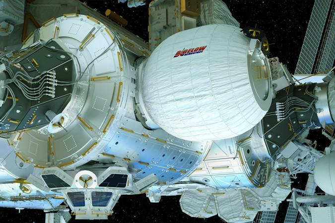 Pumped up: NASA has just expanded the space station's first inflatable room