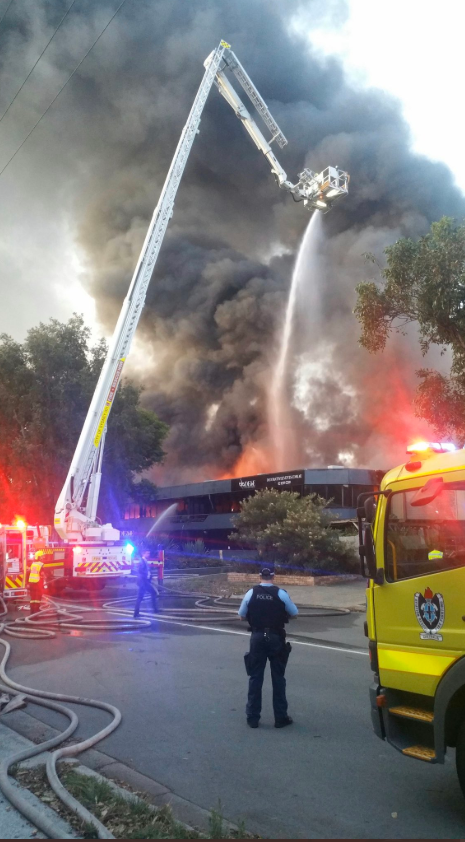A factory near the Qantas terminal at Sydney airport caught fire: Fire and Rescue NSW