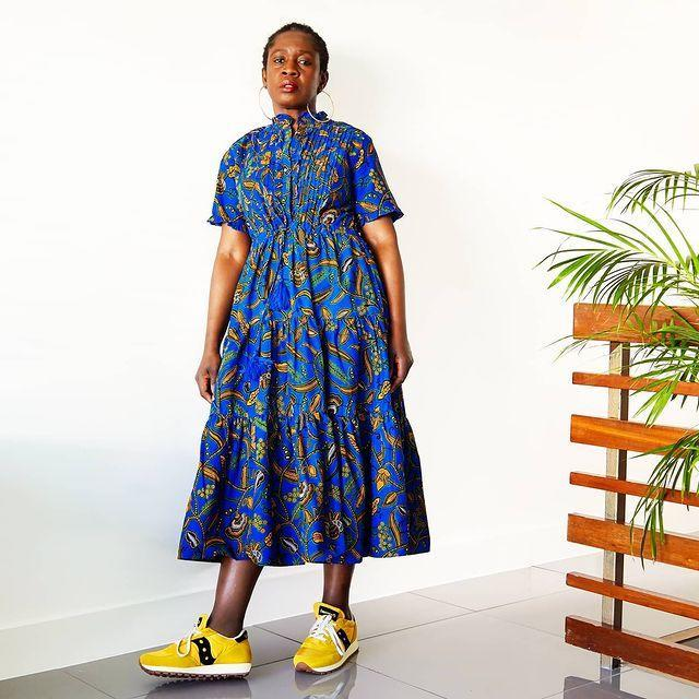 """<p>Who: Yvonne Telford</p><p>What: 'The clothes we sell are more than just stylish clothes; they are loud, bold and tell the whole world, """"Look at me, I am fabulous."""" Some of the clothes sold here have a Nigerian influence, but with a western twist. What is important is that our clothes speak for the women who wear them. Our clothes encourage women to take up their rightful place. They encourage them to stop shrinking themselves... something I have had to work on, and I am still working on.'</p><p><a class=""""link rapid-noclick-resp"""" href=""""https://kemitelford.com/"""" rel=""""nofollow noopener"""" target=""""_blank"""" data-ylk=""""slk:SHOP KEMI TELFORD NOW"""">SHOP KEMI TELFORD NOW</a></p><p><a href=""""https://www.instagram.com/p/CA9mpqQFz_-/"""" rel=""""nofollow noopener"""" target=""""_blank"""" data-ylk=""""slk:See the original post on Instagram"""" class=""""link rapid-noclick-resp"""">See the original post on Instagram</a></p>"""