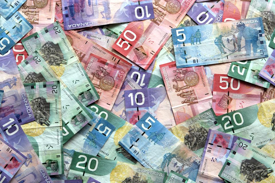Different Canadian Dollar Banknotes