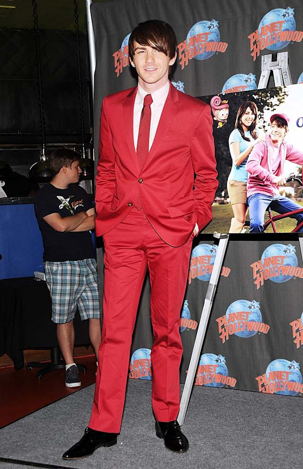 "Suffice it to say, red isn't Drake Bell's color. Desiree Navarro/<a href=""http://www.wireimage.com"" target=""new"">WireImage.com</a> - June 29, 2011"