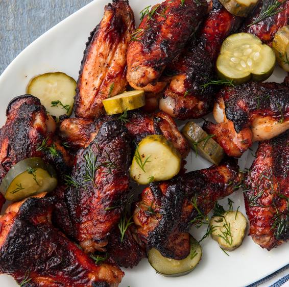 """<p>This just might be the best way to use pickle juice. </p><p>Get the <a href=""""https://www.delish.com/uk/cooking/recipes/a35126980/pickleback-wings-recipe/"""" rel=""""nofollow noopener"""" target=""""_blank"""" data-ylk=""""slk:Pickle-Brined Chicken Wings"""" class=""""link rapid-noclick-resp"""">Pickle-Brined Chicken Wings</a> recipe.</p>"""