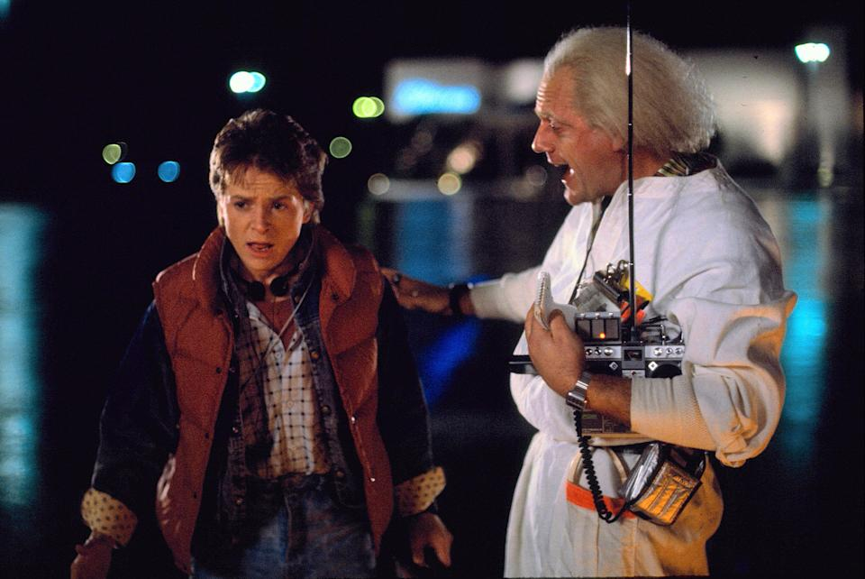 Michael J. Fox and Christopher Lloyd in Back to the Future (Credit: Universal)