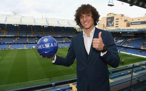 David Luiz of Chelsea signs a contract extension with Chelsea FC - Credit: GETTY IMAGES