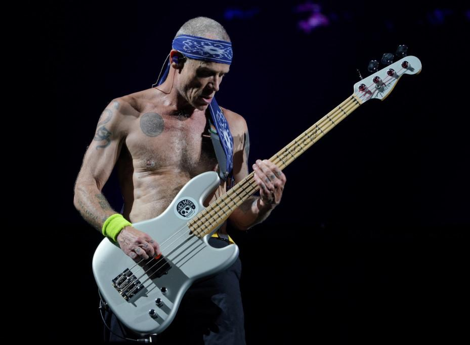 Flea, bassist, of Red Hot Chilli Peppers. (PHOTO: Singapore GP)