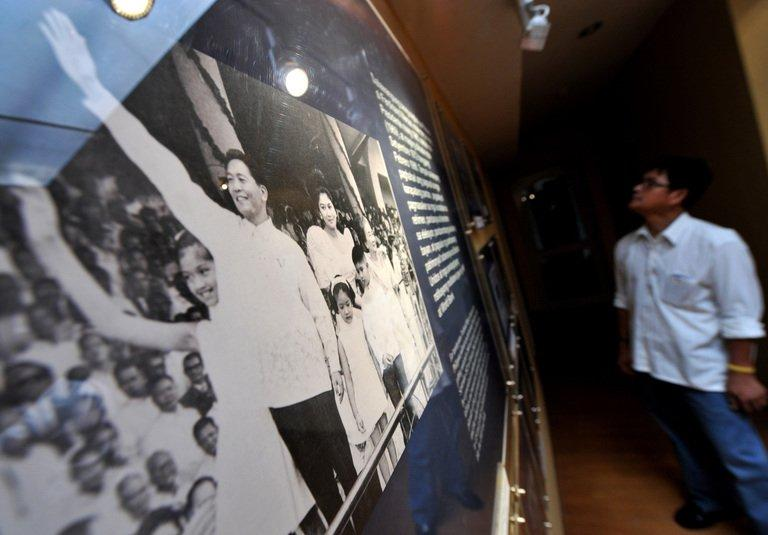 A relative of a victim under Ferdinand Marcos regime, seen at the Martial Law Museum in Manila, on September 21, 2010