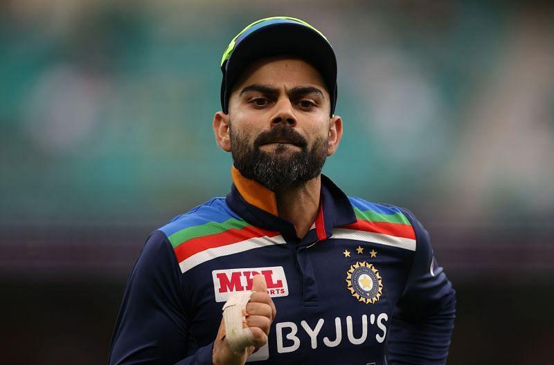 Virat Kohli in action in the ongoing ODI series.