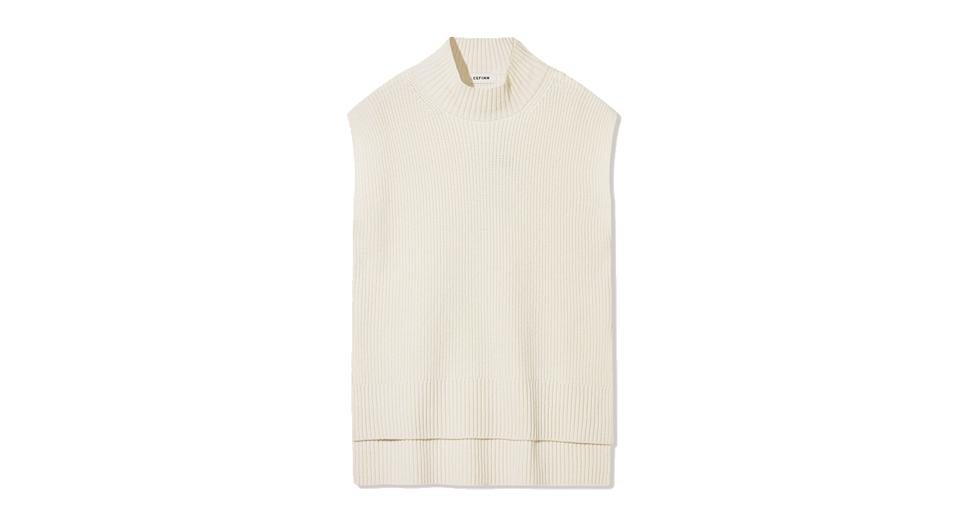 Janice Funnel Neck Sleeveless Layering Jumper
