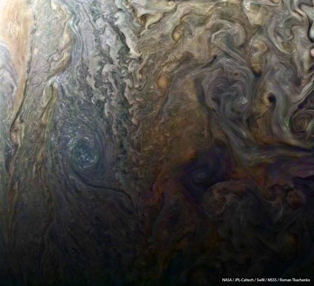 <p>A detailed shot of Jupiter's clouds from NASA probe Juno. Photo from NASA </p>
