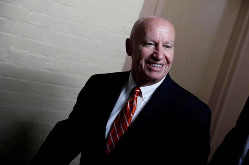 FILE PHOTO - Rep. Kevin Brady (R-TX), Chairman of the House Ways and Means Committee, arrives for a Republican conference meeting at the U.S. Capitol in Washington