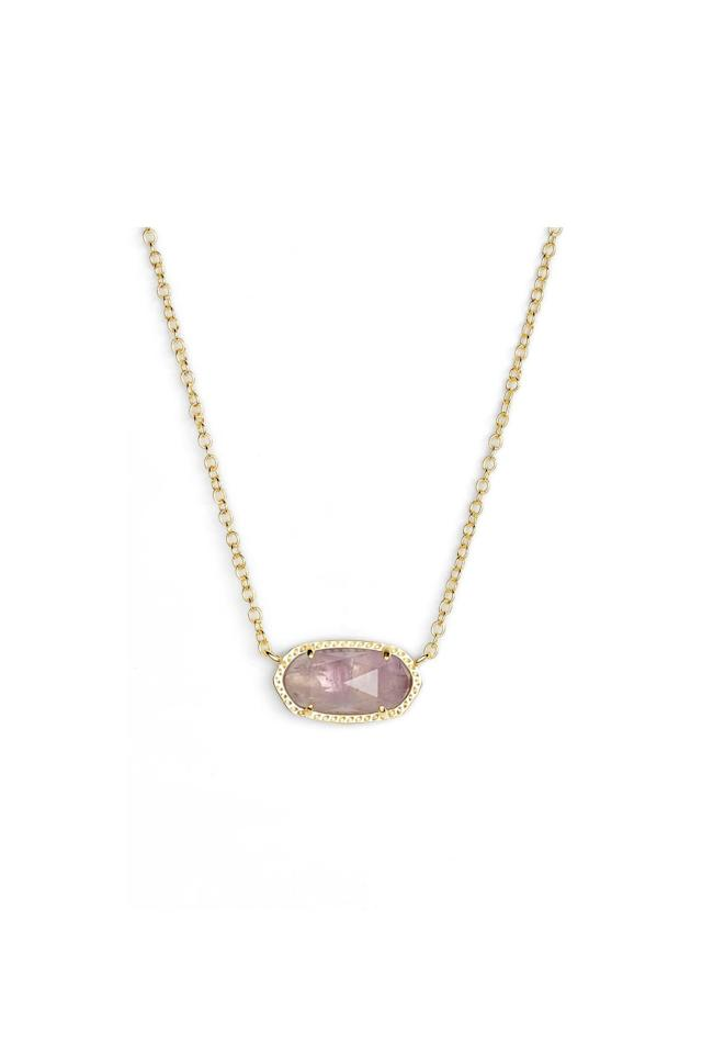 "<p>Amethyst is a quartz stone that comes in a spectrum of purple shades, from light lavender to the deepest plum. </p> <p>Kendra Scott Elisa Birthstone Pendant Necklace</p> <p>Buy it: $50, <a href=""https://click.linksynergy.com/deeplink?id=93xLBvPhAeE&mid=1237&murl=https%3A%2F%2Fshop.nordstrom.com%2Fs%2Fkendra-scott-elisa-birthstone-pendant-necklace%2F4647644&u1=SL%2CRX_1910_February%253AAmethyst%2Crogersc%2C%2CIMA%2C644912%2C201910%2CI"" target=""_blank"">nordstrom.com</a></p>"