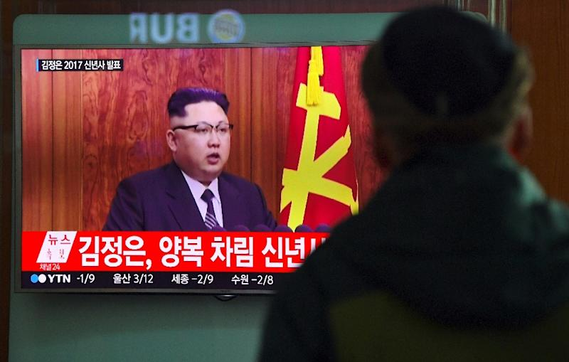 """In his New Year address, North Korean leader Kim Jong-Un said the regime was in the """"final stages"""" of developing an intercontinental ballistic missile, which Pyongyang says it will one day arm with a nuclear payload"""