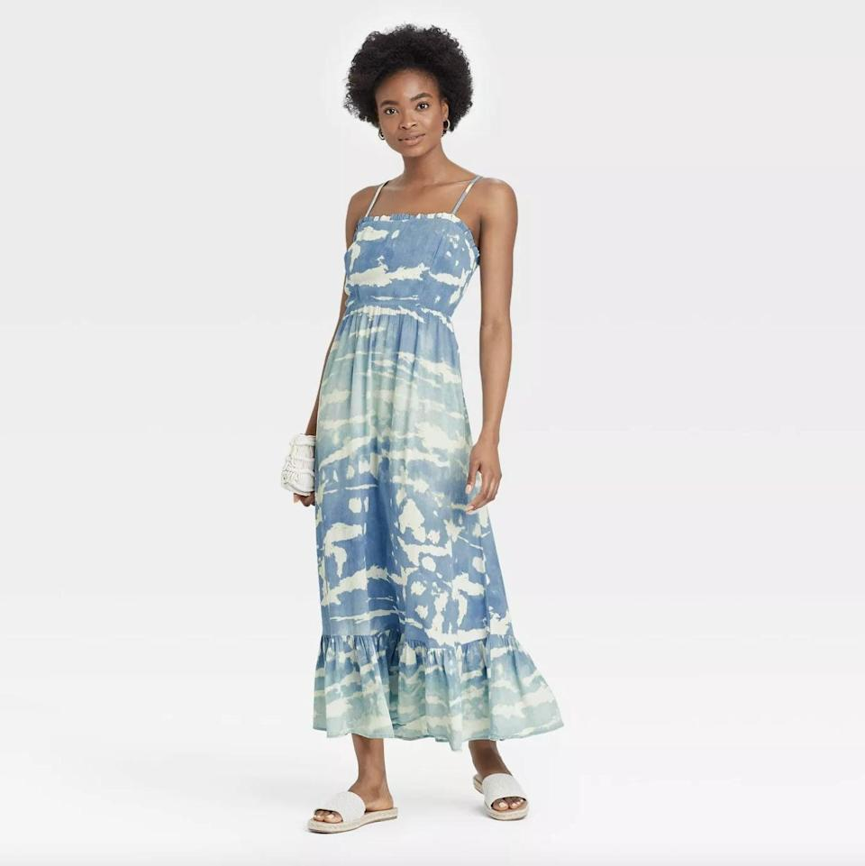 <p>This patterned blue <span>Knox Rose Sleeveless Tiered Dress</span> ($35) is especially pretty, but it also comes in solid red or white.</p>