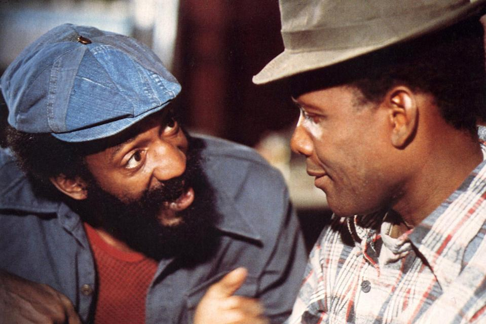 <p>With Bill Cosby in 1974's <em>Uptown Saturday Night, </em>one of a handful of films he also directed. </p>