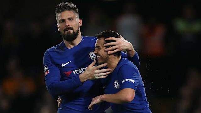 The Frenchman was delighted to be on target as Antonio Conte's side eased into the quarter-final of the competition with a big on Friday