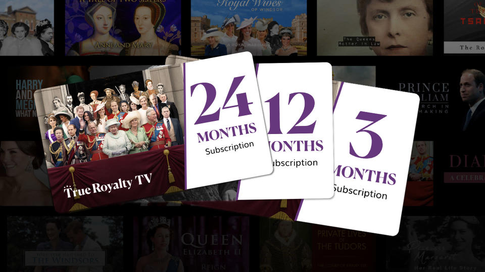 """<p>For the royal family fanatic who has already rewatched <em>The Crown</em> numerous times, give the gift of entertainment with True Royalty, the """"world's first TV channel dedicated to all things royal.""""</p> <p><strong>Buy it! True Royalty TV, from $6; <a href=""""https://trueroyalty.tv/"""" rel=""""nofollow noopener"""" target=""""_blank"""" data-ylk=""""slk:trueroyalty.tv"""" class=""""link rapid-noclick-resp"""">trueroyalty.tv</a></strong></p>"""