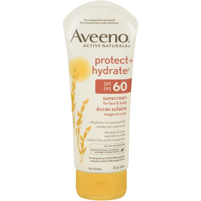 Aveeno Protect + Hydrate Sunscreen for Face & Body SPF 60