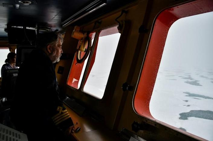 After nearly 30 years at sea, much of it in the Arctic, Dmitry Lobusov has seen first hand the changes wrought by global warming (AFP/Ekaterina ANISIMOVA)