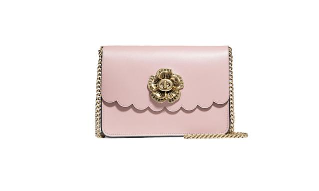 "<p>This is the perfect lady bag for all occasions.<br><br>Bowery Crossbody with Tea Rose Turnlock, $250, <a href=""https://www.coach.com/coach-bowery-crossbody-with-tea-rose-turnlock/24976.html?cgid=women-handbags-shoulder-bags&dwvar_color=OLPEO"" rel=""nofollow noopener"" target=""_blank"" data-ylk=""slk:coach.com"" class=""link rapid-noclick-resp"">coach.com</a> </p>"