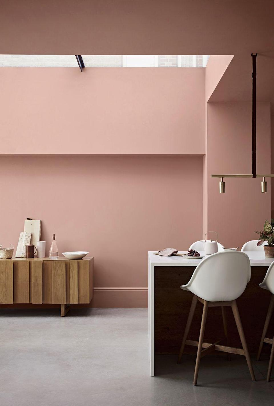 """<p>Ring the changes with a new wall colour. If your kitchen is relatively neutral with monochrome units, the world is your oyster in terms of choosing a new hue. Otherwise, you'll need to opt for a shade to complement your existing cabinets. You could even go one step further by painting the ceiling for an added wow-factor!<br></p><p>Pictured: Powdered Clay matt emulsion, <a href=""""https://www.crownpaints.co.uk/"""" rel=""""nofollow noopener"""" target=""""_blank"""" data-ylk=""""slk:Crown"""" class=""""link rapid-noclick-resp"""">Crown</a></p><p><strong>Like this article? <a href=""""https://hearst.emsecure.net/optiext/cr.aspx?ID=DR9UY9ko5HvLAHeexA2ngSL3t49WvQXSjQZAAXe9gg0Rhtz8pxOWix3TXd_WRbE3fnbQEBkC%2BEWZDx"""" rel=""""nofollow noopener"""" target=""""_blank"""" data-ylk=""""slk:Sign up to our newsletter"""" class=""""link rapid-noclick-resp"""">Sign up to our newsletter</a> to get more articles like this delivered straight to your inbox.</strong></p><p><a class=""""link rapid-noclick-resp"""" href=""""https://hearst.emsecure.net/optiext/cr.aspx?ID=DR9UY9ko5HvLAHeexA2ngSL3t49WvQXSjQZAAXe9gg0Rhtz8pxOWix3TXd_WRbE3fnbQEBkC%2BEWZDx"""" rel=""""nofollow noopener"""" target=""""_blank"""" data-ylk=""""slk:SIGN UP"""">SIGN UP</a><br><br>Love what you're reading? Enjoy <a href=""""https://go.redirectingat.com?id=127X1599956&url=https%3A%2F%2Fwww.hearstmagazines.co.uk%2Fhb%2Fhouse-beautiful-magazine-subscription-website&sref=https%3A%2F%2Fwww.housebeautiful.com%2Fuk%2Fdecorate%2Fkitchen%2Fg35968126%2Fkitchen-tweaks%2F"""" rel=""""nofollow noopener"""" target=""""_blank"""" data-ylk=""""slk:House Beautiful magazine"""" class=""""link rapid-noclick-resp"""">House Beautiful magazine</a> delivered straight to your door every month with Free UK delivery. Buy direct from the publisher for the lowest price and never miss an issue!<br><br><a class=""""link rapid-noclick-resp"""" href=""""https://go.redirectingat.com?id=127X1599956&url=https%3A%2F%2Fwww.hearstmagazines.co.uk%2Fhb%2Fhouse-beautiful-magazine-subscription-website&sref=https%3A%2F%2Fwww.housebeautiful.com%2Fuk%2Fdecorate%2Fkitchen%2Fg35968126"""