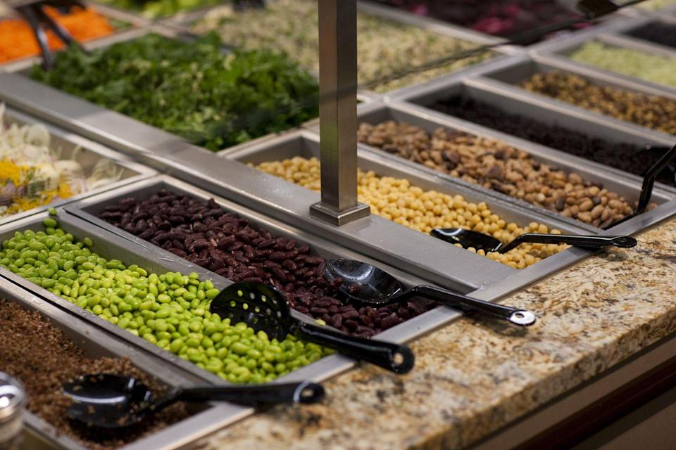 <p>Both the salad bar and hot bars are so fresh and fancy, it's easy to get carried away. Whole Foods experts know to take advantage of the scales the store puts all around those areas and how to best hack it so their lunch is closer to $7 than $17.</p>