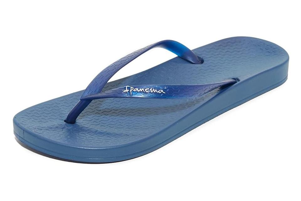 ipanema, blue, thong sandals, flip flops