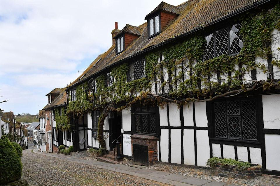 """<p><a href=""""https://www.redescapes.com/offers/east-sussex-rye-mermaid-inn-hotel"""" rel=""""nofollow noopener"""" target=""""_blank"""" data-ylk=""""slk:The Mermaid Inn"""" class=""""link rapid-noclick-resp"""">The Mermaid Inn</a> - named after Rye's best known and most characterful street - is not just a pub. It's also a popular hotel, boasting the two-AA Linen Fold restaurant. </p><p>Think seasonal food and wines from Kent and Sussex, and the cosy Giant's Fireplace bar, perfect for alfresco dining and a Blackdown Sussex gin nightcap. </p><p>You can stay here with Red's exclusive hotel offer, enjoying dinner for two in the restaurant, a night in an atmospheric four-poster room and a private tour of this haunted hotel with the owner. </p><p><a class=""""link rapid-noclick-resp"""" href=""""https://www.redescapes.com/offers/east-sussex-rye-mermaid-inn-hotel"""" rel=""""nofollow noopener"""" target=""""_blank"""" data-ylk=""""slk:BOOK NOW"""">BOOK NOW</a></p>"""