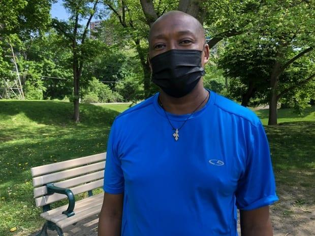 Daniel Dibaba says Dentonia Park has been much busier during the COVID-19 pandemic. But unlike some city parks, he hasn't noticed more littering. (Trevor Dunn/CBC - image credit)