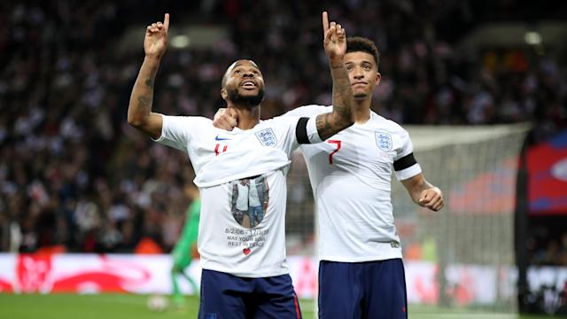 England international paid tribute to the youngster during the victory over the Czech Republic last month.