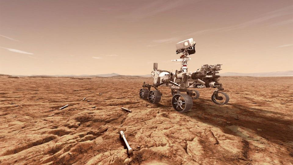 Concept illustration of Perseverance Mars rover by NASA (Getty Images)