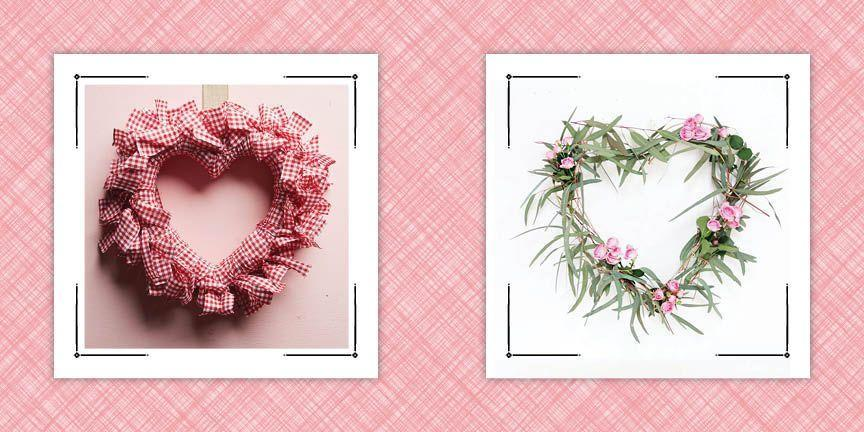 """<p>What is it about February 14 that makes <a href=""""https://www.countryliving.com/diy-crafts/g2971/valentines-day-decorations/"""" rel=""""nofollow noopener"""" target=""""_blank"""" data-ylk=""""slk:Valentine's Day decorations"""" class=""""link rapid-noclick-resp"""">Valentine's Day decorations</a> so much fun? Maybe it's because the holiday is dedicated to romance and love, or maybe it's just because it's the one holiday that gives us license to use every shade of pink imaginable in our decor. Whatever the reason, you don't want to miss out on decorating for Cupid's favorite day, and that especially goes for decorating with DIY Valentine's Day wreaths. After all, there's no quicker way to dress up your home than with a beautiful front door hanger, and if you make it yourself you can save money and have all that crafting fun.</p><p>That's why we've collected 19 of the best DIY Valentine's wreaths. From more traditional wreaths that use gorgeous rosettes to grapevines wreaths intertwined with flowers and even a stunning, baby's breath wreath painted deep pink, we have the best front door decor for February 14. And many of these wreaths can be made with materials you have in your craft room, so not only are they simple to make, they're inexpensive, too! Some of them are simple enough to be <a href=""""https://www.countryliving.com/diy-crafts/how-to/g1584/valentines-day-crafts-for-kids/"""" rel=""""nofollow noopener"""" target=""""_blank"""" data-ylk=""""slk:Valentine's Day crafts for kids"""" class=""""link rapid-noclick-resp"""">Valentine's Day crafts for kids</a>. After you make your door hanger, if you're looking for more DIY projects to do, be sure to check out our <a href=""""https://www.countryliving.com/diy-crafts/g1093/valentine-day-crafts/"""" rel=""""nofollow noopener"""" target=""""_blank"""" data-ylk=""""slk:Valentine's Day crafts"""" class=""""link rapid-noclick-resp"""">Valentine's Day crafts</a> that double as the sweetest gifts.</p>"""
