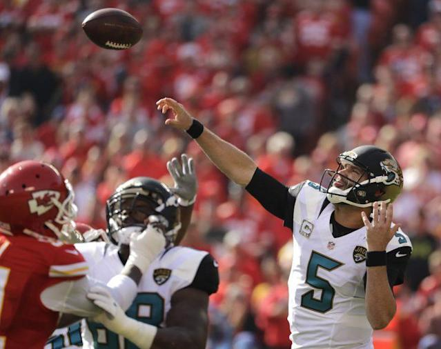 The Jaguars picked up the fifth-year option on QB Blake Bortles' contract. (AP)