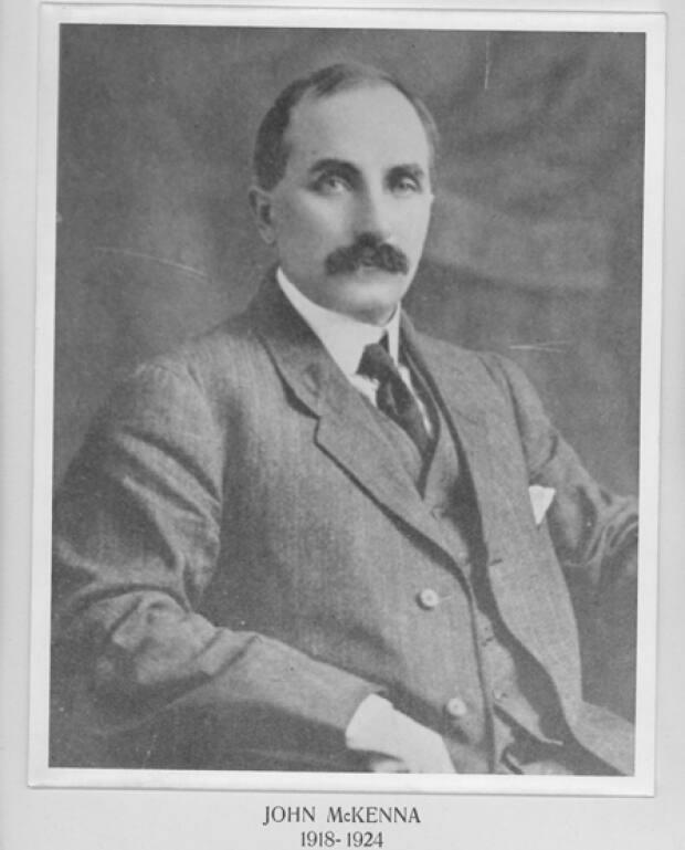 Dorothy Palmer's father John McKenna was water commissioner and then mayor of Charlottetown, and a successful grocery store owner.