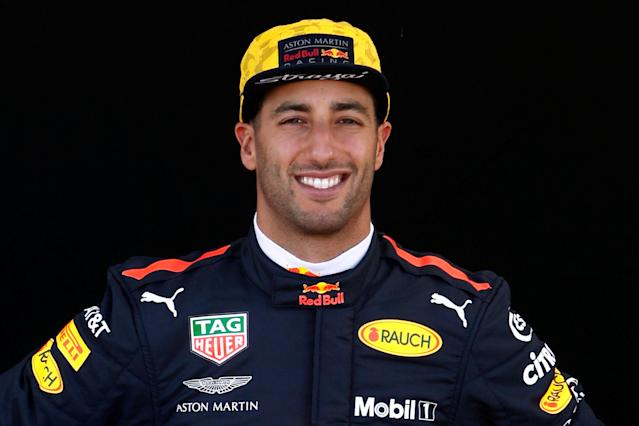 Formula One F1 - Australian Grand Prix - Melbourne Grand Prix Circuit, Melbourne, Australia - March 22, 2018 Red Bull's Daniel Ricciardo poses for a photo REUTERS/Brandon Malone