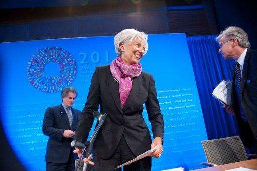 IMF chief Christine Lagarde is pictured