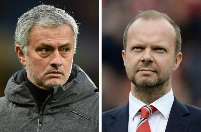 Former Manchester United boss Jose Mourinho (left) worked under Ed Woodward at Old Trafford
