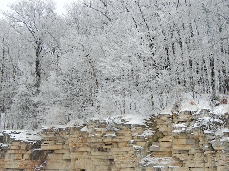 The Niagara Escarpment is seen in this 2014 photo taken at High Cliff State Park.