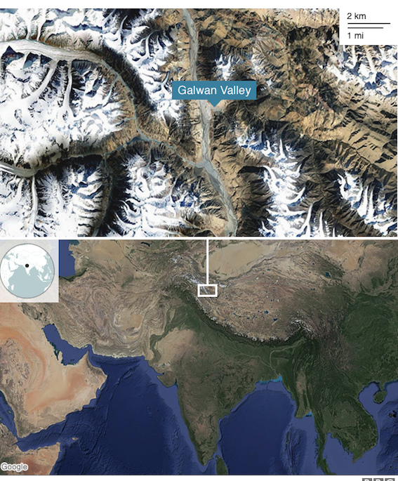 The Galwan river valley lies along the western sector of the LAC and close to Aksai Chin, an area India claims but China controls