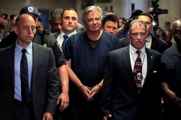 PHOTO: Former Trump campaign chairman Paul Manafort is escorted into court for his arraignment in New York Supreme Court in New York, June 27, 2019. (Lucas Jackson/Reuters, FILE)