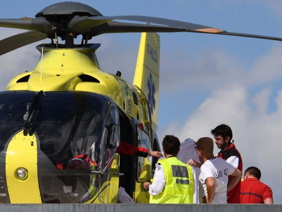 Chris Froome was airlifted away from the Dauphine (Getty)