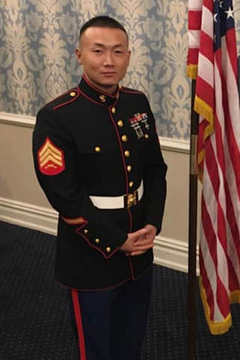Baimadajie Angwang is also a US Army reservist. Photo: Facebook
